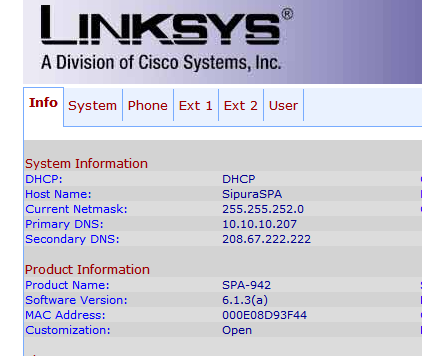 LinkSys SPA942 - Firmware version - Informatica Pressapochista