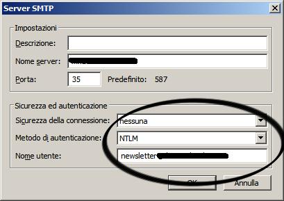 Thunderbird - SMTP Config