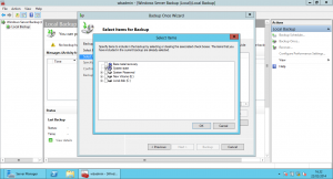 Windows 2012 - BAckup System State