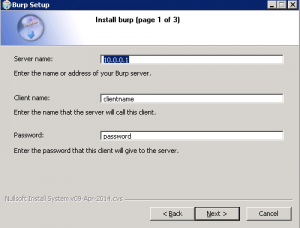 Burp - Install Windows Client - Step 01